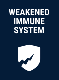 weakened immune system